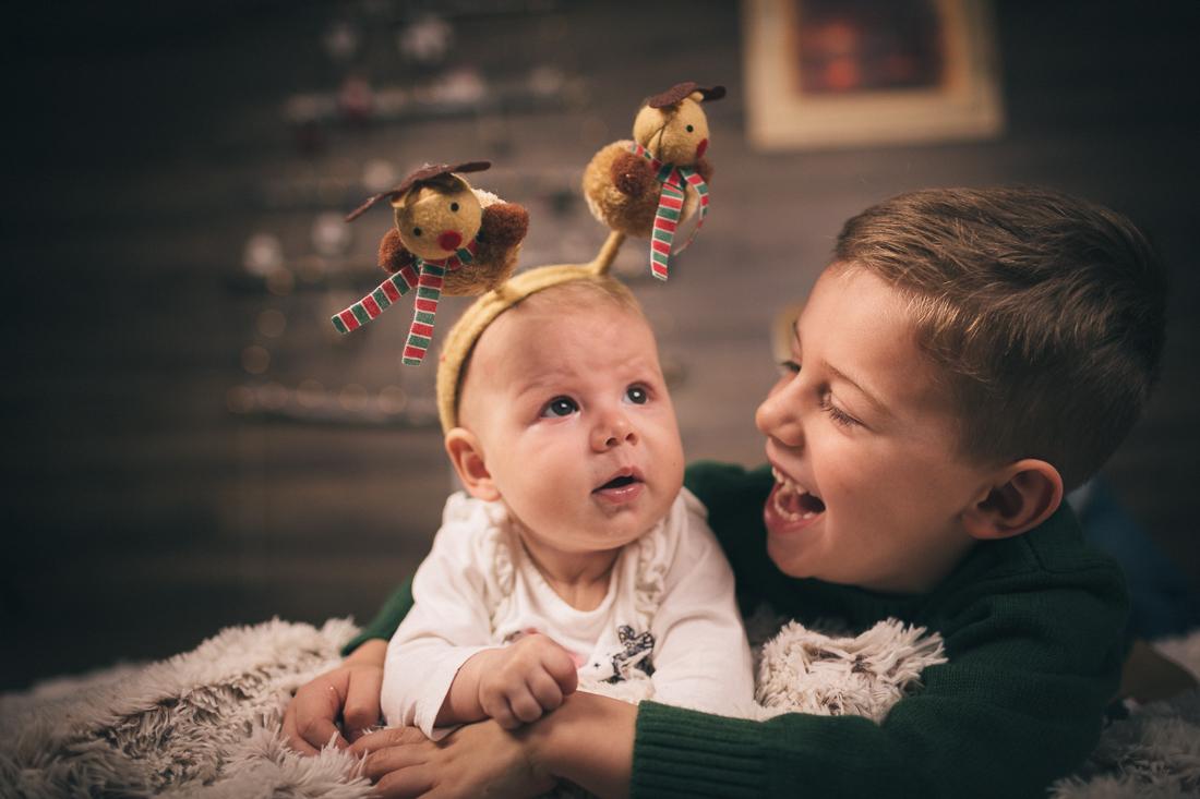 Sesiune foto de Craciun cu Sofia si Luca