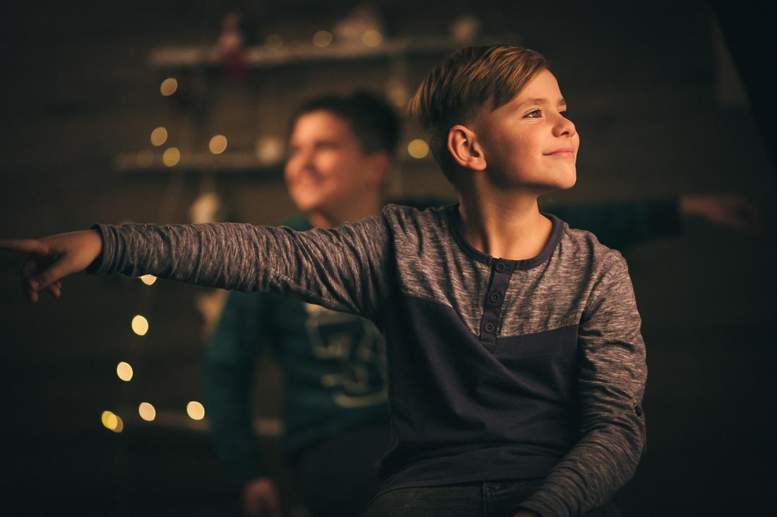 Sesiune foto de Crăciun cu Ștefan și Enrique
